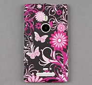 Soft Silicone Vivid Butterfly Style Skin Cover Back for Nokia Lumia 925