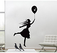 JiuBai™ Girl With Ball Home decoration Wall Sticker Wall Decal