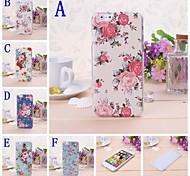 caso difícil florais frescos padrão de plástico pequeno para iphone 6