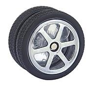 Black Tire Style Ball Bearing GPPS & PVC Yoyo Toy (Black)