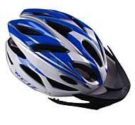EPS+PC Blue and White Integrally-molded Cycling Helmet  with 23 Vents
