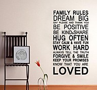JiuBai™ Family Rule Quote Home Decoration Wall Sticker Wall Decal