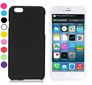 Simple Solid Color Rubber Coated PC Hard Cover for iPhone 6(Assorted Colors)