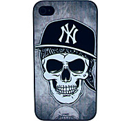 The Skull Cap Pattern Hard Case for iPhone 4/4S