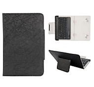 Bluetooth Keyboard Magnetic Flip Leather Case with Holder for Universal 7 inch Tablet PC (Assorted Colors)