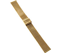 20mm High Quality Elegant Black/Gold Stainless Steel Watchband