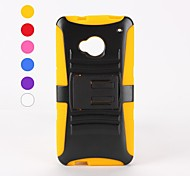 Special Design PC+Silicone Case Design with Stand for HTC M7(Assorted Colors)