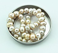 Toonykelly® Near Round Natural Real Fresh Water Pearl DIY Beads 45Pc/Bag