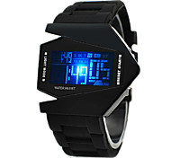 Men's Watch Sports Watch LED Digital Watch Chronograph Calendar Stealth Aircraft Silicone Strap Cool Watch Unique Watch