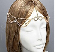 Crystal Chain Nugget Hair Crown Hair Accessories Wholesale for Women