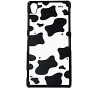 The Cow Markings Leather Vein Pattern Hard Case for Sony Z2