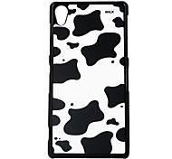 le cas dur marques de vache motif de veine en cuir pour Sony Z2