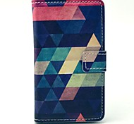 Colorful Diamond Puzzle Pattern PU Leather Cover Full Body Case with Card Slot for Nokia Lumia N520