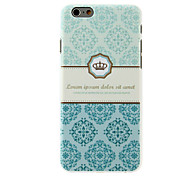Crown Flowers Pattern PC Hard Back Cover for iPhone 6