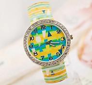 Women's Fashion Personality Popular Jelly Luminous Rhombus Strap Watch