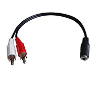 0.25M 0.82FT High-quality 3.5mm Female to 2RCA Female Free Shipping