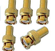 BNC macho a RCA adaptador femenino - chapado en oro x 5 x