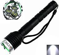 ZHISHUNJIA Z30 5-Mode 3 x Cree XM-L T6 Zoom LED Flashlight (2400LM,3 x 18650,Black)