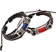 The New European Style PU Leather Braided Couple Bracelet