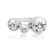 Designer Wedding Ring Wholesale Jewelry Silver Ring Fashion Silver Jewelry 2.50Ct Silver Stylish Ring