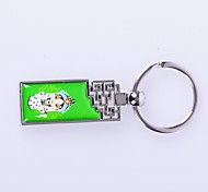 "The ""Classical Design  Metal Silver Keychain Toys"