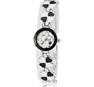 Women's Clover Style Alloy Band Quartz Bracelet Watch
