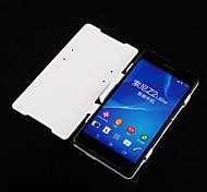 3500mAh Leather Flip Backup Battery Charger Case for Sony Xperia Z2(White)