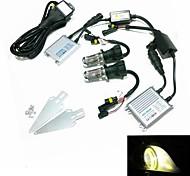 12V 35W H4-3 3000k HID-Xenon-Lampe Umbausatz mit Befestigungssatz (Hyper Slim silber Vorschaltgerät)