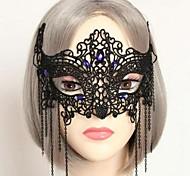 festa halloween meia máscara de renda das mulheres