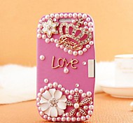 Hand Made Crown Diamond Leather Full Body Case with Magnetic Snap for SAMSUNG GALAXY S3 I9300(Assorted Colors)