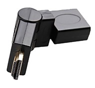 HDMI Type A Male to Female 360 Degree Rotating Swivel Adapter 1080P