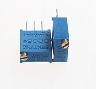 3296 potenziometro 500KOHM resistori regolabili - blu (10 pz)