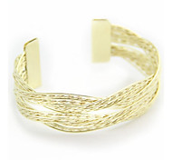 Fashion Double Cross Metal Knitted Hand Ring Bracelets