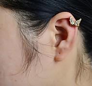 Stein gemeißelt Schmetterling Ohr Manschette