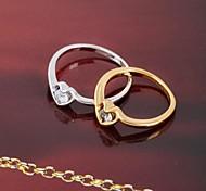 Frauen neue Stil, Mode, einfache Farbe zwei herzförmigen Ring