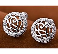 I FREE®Fashion Holiday Gift S925 Silver Mosaic Diamond Stud Earrings 2 pcs (1 pair)