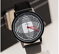 Herrenmode vertraglich schwarz weiß Bogenlinie Band Uhr