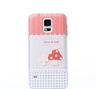 украшения цвета два грибы шаблон пластиковый жесткий футляр для Samsung s5 i9600