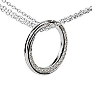 I FREE®Women's Fashion S925 Sterling Silver Mosaic Diamond Pendant Necklace Sweater Chain 1 pc (Include The Necklace)