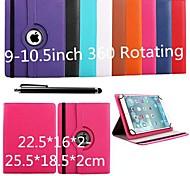 karzea® protectora 360 caso rotacion universal con soporte y lápiz para 9-10,5 pulgadas tableta google / asus / amazon
