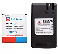Link Dream  Cell Phone Battery with NFC+Charger  for  Samsung Galaxy S4 i9500/i545/i337/L720/M919  (3300 mAh)