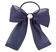 Fashion Bowknot With Pearl Hair Ties Random Color