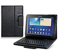 Faux Leather Flip Case with Built-in Bluetooth Keyboard for Samsung Galaxy Note 10.1 N8000/P5100 Tablet PC