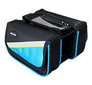 Bike Frame Bag / Cell Phone Bag Cycling/Bike For Waterproof / Rain-Proof / Dust Proof / Wearable / Touch Screen , Blue , 1680D Polyester)