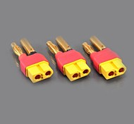 No Wires Connectors/Plug Male XT60 to 4.0mm Banana Plug Male and Female (10PCS/Bag)