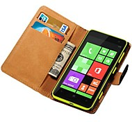 Genuine Leather Wallet Case for Nokia Lumia 625 Stand with Credit Card Holder New Arrival