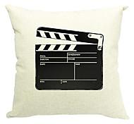 filme de arte de algodão / linho fronha decorativo