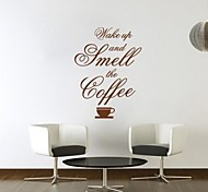 JiuBai™ Coffee Quote Home Decoration Wall Sticker Wall Decal