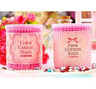 150Pcs Pink Makeup Cotton Stick