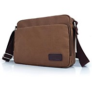 Men's Outdoors Fashional British Style Brown Canvas Single-Shoulder Bag